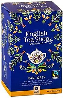 DEU English Tea Shop Bio-Schwarztee mit Bergamotte Earl Grey Hergestellt in Sri Lanka - 1 x 20 Teebeutel 45 Gramm