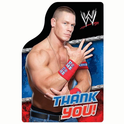 WWE Thank You Cards (Pack of 8)