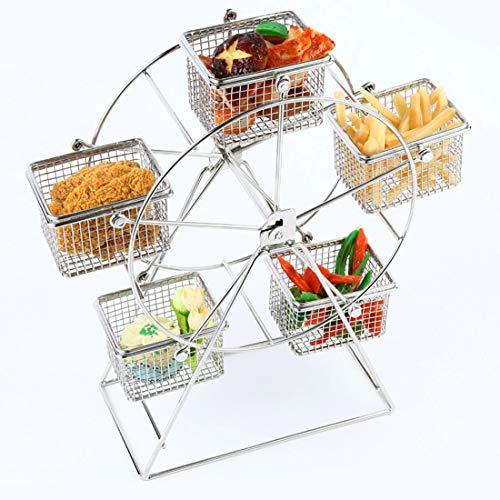 LVMEIHUA Cafe Essen Regal Riesenrad Drehbarer Korb Mit Snacks Und Chips Korb Snack Steht for American Restaurant Lounge