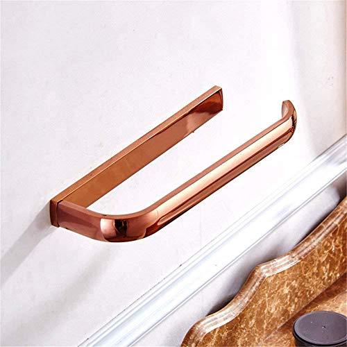 Badkamerrek Handdoek rek Handdoek rek Handdoek Rekjes hanger Badkamer hardware hanger plating rose goud eenvoudige koperen badkamer handdoek ring/handdoek bar