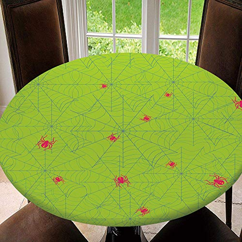 SUPNON Outdoor Tablecloth Waterproof Spillproof Polyester Table Cover Seamless Cobweb with Spiders. Poisonous for Patio Garden Tabletop Decor IS164254 Fit for 51'-55' Table