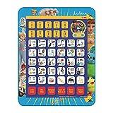 LEXIBOOK Disney Toy Story 4 Woody Buzz JCPAD002TSi1 - Tableta educativa bilingüe, Juguete para Aprender Las Letras, números vocabulares y música, lenguas franceses/inglés, Azul/Amarillo