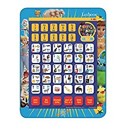 "TALKING EDUCATIONAL TABLET * Bilingual tablet (French/English). * Touch-sensitive tablet with sounds: press any button and the tablet will announce the matching letter, number or word. Perfect for toddlers! * ""Where is..?"" quiz: this game mode promot..."