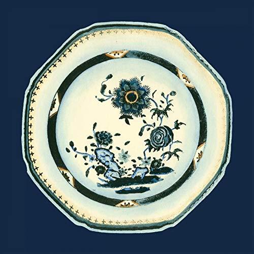 Feeling at home Toile encadrée avec boîte-américaine en porcelaine-Plate-II-Vision-Studio-Floral-Fine-Art-Impression sur cadre en bois-Carré-43,2 x 43,2 cm