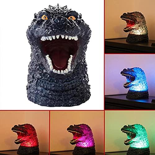 Luz de noche de dinosaurio, lámpara de cambio de color de dinosaurio LED 3D, luz creativa de silicona para dormir para adornos de decoración del hogar, sueño, luz de noche de dinosaurio para niños