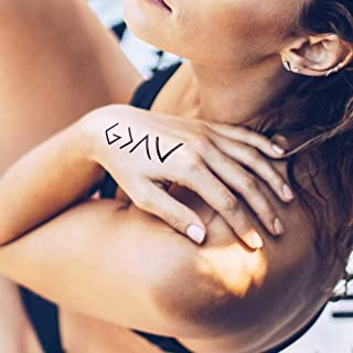 God is Greater Than My Highs and Lows - Tatuaggio temporaneo (set di 2)
