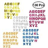 Toyvian 130 unids Pasters 26 Letras Autoadhesiva Brillante EVA Artesanía Adhesivos Pegatinas para Niños Niños (Color Surtido)