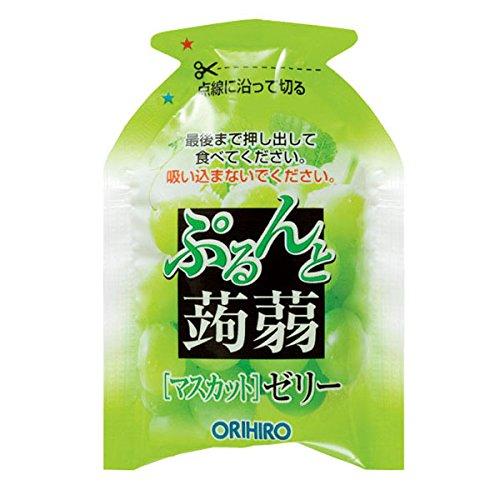 ORIHIRO(オリヒロ)『ぷるんと蒟蒻ゼリーパウチマスカット+オレンジ』