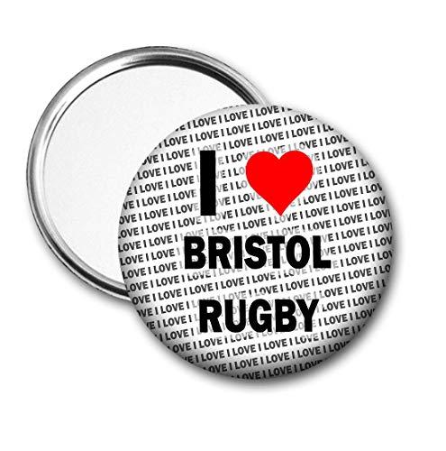 Ik hou van Bristol Rugby Pocket/Handtas Spiegel - Gift - Verjaardag - Stocking Filler