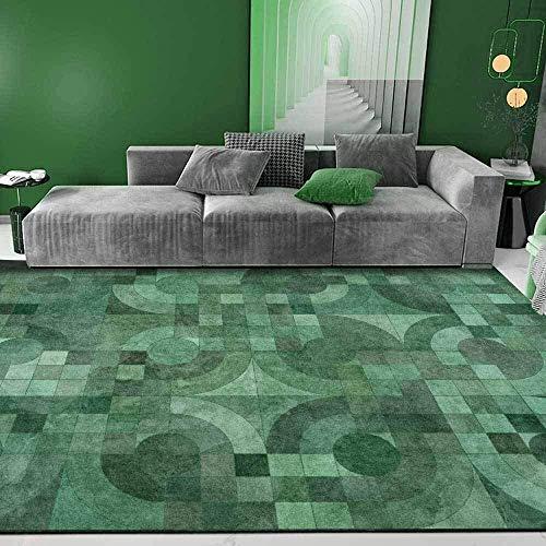 GLFDT Pendiente De La Cama, Tapetes De Piso Mats Cabecera del Dormitorio Salón Geométrica Verde Esmeralda (Size : 100x150CM)