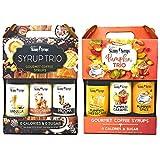 Jordans Skinny Syrups Bulk Variety Trios - Gourmet Coffee Syrup Trio - Pumpkin Trio - Gluten Free - 0 Calories - 0 Sugar - 6 Bottles 76.2 Total Fl Oz
