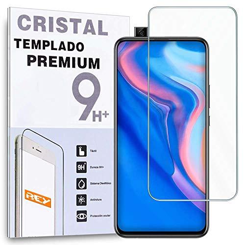 REY Protector de Pantalla para Huawei P Smart Z - Huawei Y9 Prime 2019, Cristal Vidrio Templado Premium
