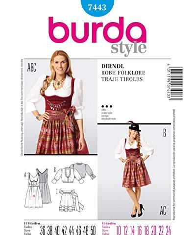 Burda Schnittmuster 7443 Dirndl Gr. 36-50