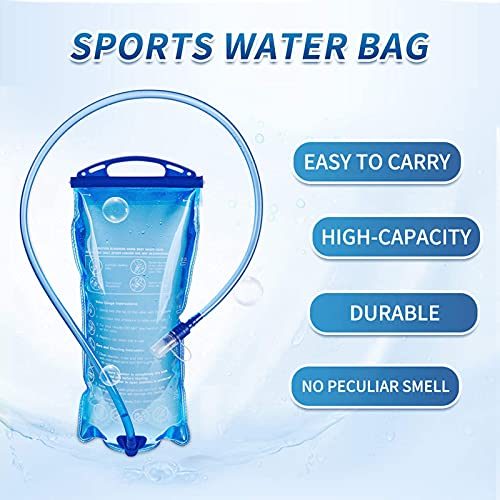 yeacher Hydration Water Bladder Reservoir,Hydration Bladder 2L with Insulated Tube,BPA Free, for Outdoor Hiking Camping Running Cycling