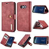 LJJOO for Samsung S8 Cas en Cuir de Luxe Thumb Wallet Téléphone for Samsung S8 Aimanté Étuis à...