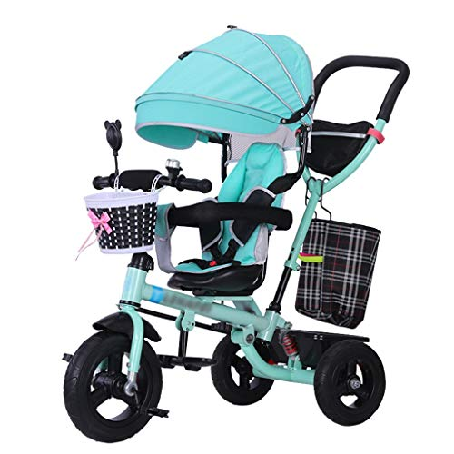 QDY-Cochecitos Rápido Doblez Carrito de bebé Trike Bicicleta Empujar y Paseo para...