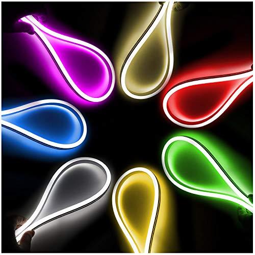 XUNATA 30m Doble Cara LED Neon lights Verde, IP67 Impermeable 220V smd...