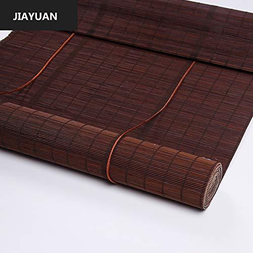 JIAYUAN Rolgordijnen Brown Bamboo Roller Blind, Window Blinds, plafond of wand Installatie, 30% lichtdoorlatend, niet-transparant, Alle Installatie Meegeleverde onderdelen