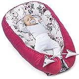 Juego de cuna para recién nacidos – nido para bebé, terciopelo velvet rosa