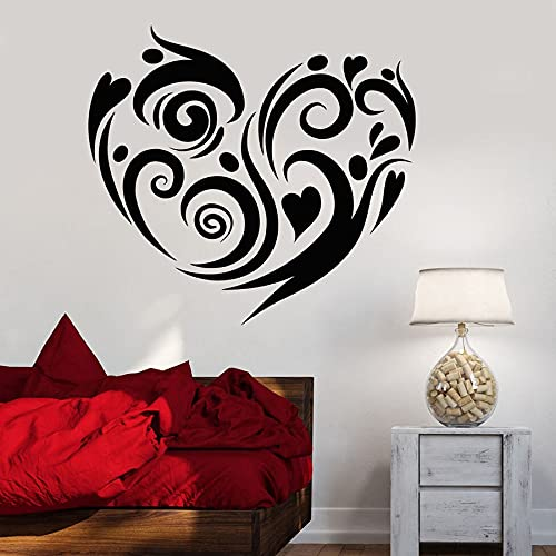 Love Heart Wall Decal Romantic Bedroom Living Room Home Decor Vinyl Wall Sticker Art Mural Window Decal