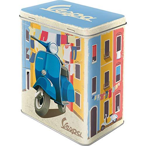 Nostalgic-Art Retro Vorratsdose L Vespa – Laundry – Geschenk-Idee für Roller-Fans, Große Blech-Dose für Kaffee oder Waschmittel, Vintage-Design, 3 l