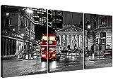 Lienzo decorativo para pared de un autobús londinense en rojo...