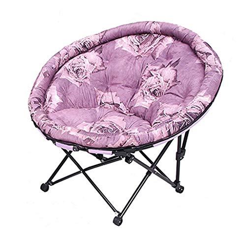 Deckchairs Sessel, Stühle & Strandkörbe Einzel Balkon Kleines Sofa Liegen Schlafzimmer Faul Couch Büro Klappstuhl Kreative Freizeit-Stuhl, 200kg Lager (Color : Purple, Size : 105 * 103cm)