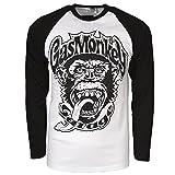 Officially Licensed Merchandise Gas Monkey Garage 04 Baseball Long Sleeve (Black/White), X-Large