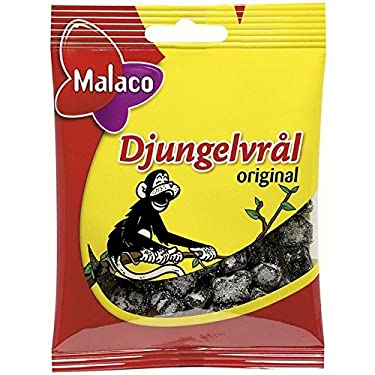 Malaco Djungelvral – Supersalty regaliz 80 g – Pack de 6