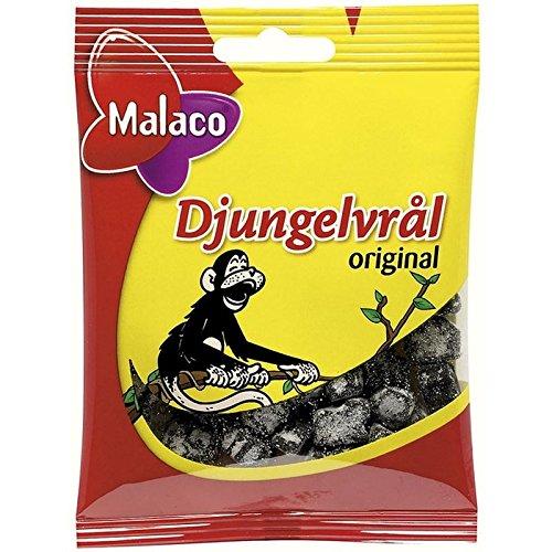 Malaco Djungelvral - Supersalty Réglisse 80G - Paquet de 6