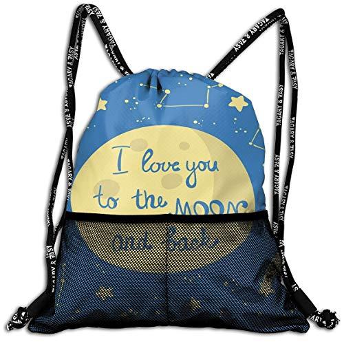 AZXGGV Drawstring Backpack Rucksack Shoulder Bags Gym Bag Sport Bag,Comet Feelings In Shooting Star Space Cosmic Orbit Valentines Concept