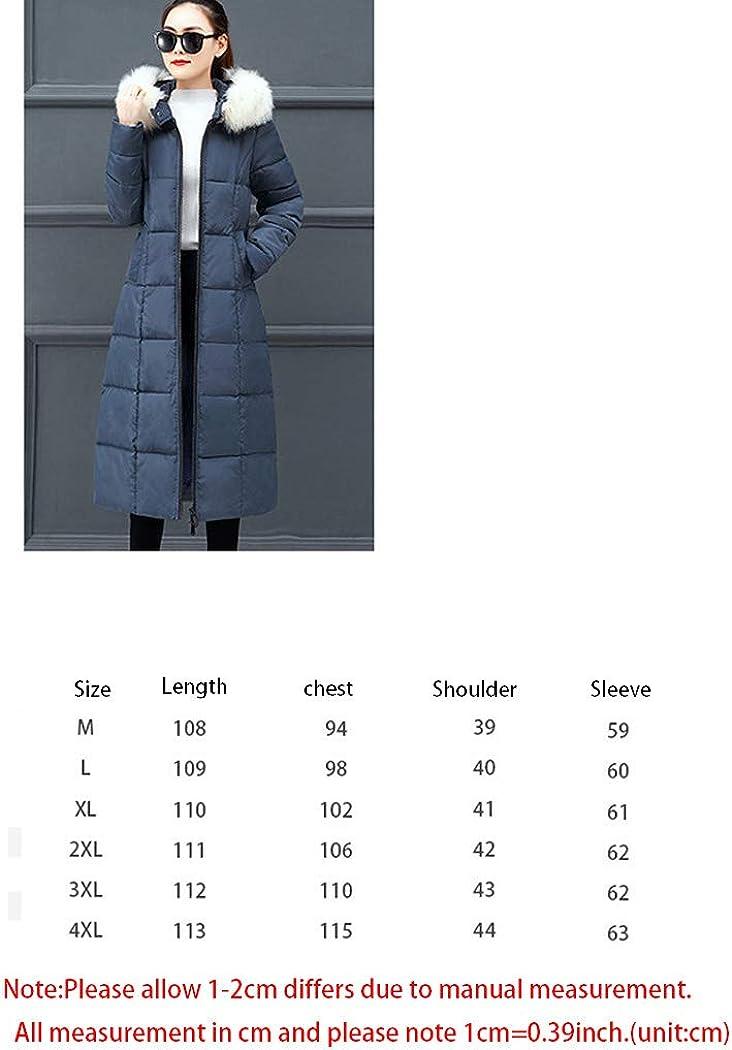 Damen Wintermantel Lange Daunenjacke Jacke Outwear Winter Warm Trenchcoat Mit Kapuze Abnehmbarer Kunstpelzkragen Winterjacke Gray #