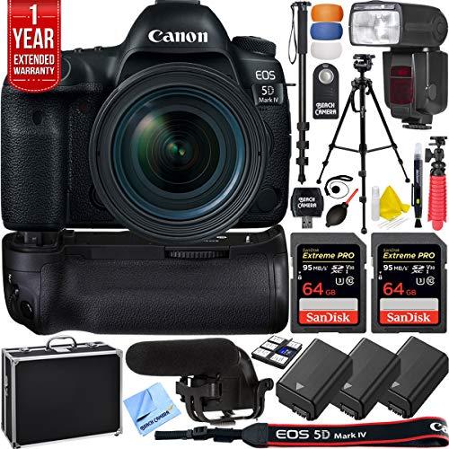 Best Price! Canon 5D Mark IV EOS 30.4MP Full Frame DSLR Camera w/EF 16-35mm f/2.8L III USM Lens Pro ...