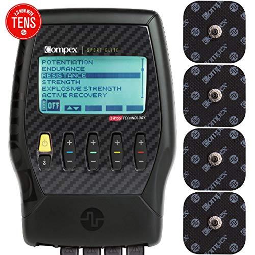 Compex Sport Elite 2.0 Muscle Stimulator with TENS Bundle Kit: Muscle Stim, 12 Snap Electrodes, 10...