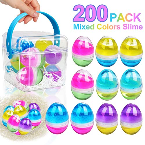 Great Deal! 200 Pack Easter Eggs Slime Putty Easter Basket Stuffers - Easter Decorations Parties Mul...