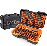 Professional Screwdriver Bit Set, TACKLIFE 60-Piece Torsion Bits Set for High Torque Drilling, Forged S2 Alloy Steel, Patented Solid Portable Case Included, PSDB1B