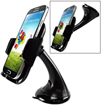Car Mount Phone Holder Windshield Swivel Cradle Window Rotating Dock Stand Strong Suction for Sprint Samsung Galaxy Grand Prime - Sprint Samsung Galaxy J3 Emerge - Sprint Samsung Galaxy J7 Perx