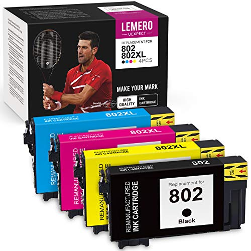 LemeroUexpect Remanufactured Ink Cartridge Replacement for Epson...