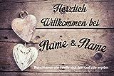 Creativ Deluxe Fussmatte mit Wunschname - Fussmatte Bedruckt Türmatte Innenmatte Schmutzmatte lustige Motivfussmatte