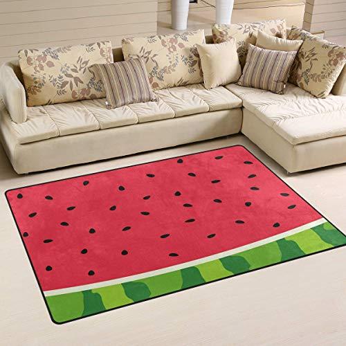 Sweet grape Alfombra antideslizante de semillas de sandía y fruta, para salón, comedor, dormitorio, 91,4 x 60,9 cm, decoración del hogar