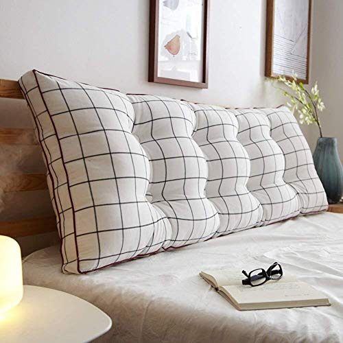 J+N Kopfbrett Triangle Nachtrückenkissen/vergrösserte Rückseite Kissen/Sofa Soft Bag/Schlafzimmer Zwei-Personen-Bett-Kissen, 7 Farben, 8 Größen (Color: # 4, Größe: 200 × 20 × 50 cm), Größe: 180 x 20