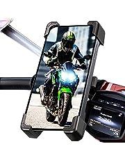 "Soporte movil Moto Bicicleta Bici Valido para telefonos de hasta 7.5"" con sujecion irrompible al Manillar Soporte móvil Moto Soporte para movil Bicicleta Moto"
