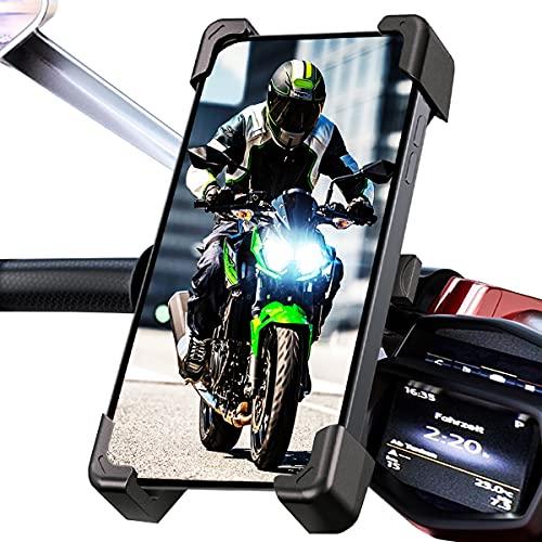Soporte movil Moto Bicicleta Bici Valido para telefonos de hasta 7.5' con sujecion irrompible al Manillar Soporte móvil Moto Soporte para movil Bicicleta Moto
