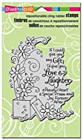 Stampendous Cling Rubber Stamp, Laughter Gift by STAMPENDOUS