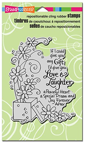Stampendous CRR258  Cling Rubber Stamp, Laughter Gift