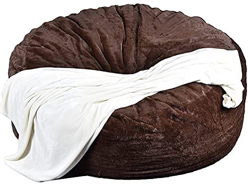 Ninhao 5 6 7 pies Bean Bag Silla para Adultos, Interior Grande Bean Bag Silla (SIN LLENAR) Bean Sack Cover Beanless Bag Chair Piel mullida Sala de Estar portátil Lazy Sofa Bed Cover Funda de Almohada