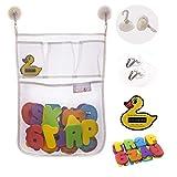 bisoo - Set Juguete Baño Bebe - Malla Organizador + Letras Adhesivas ABC y...