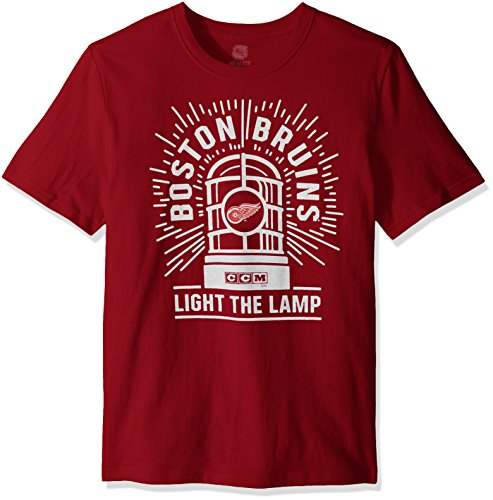 Reebok Herren Light The Lamp S/S Brushed Tee, rot, Small (144er Pack)