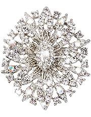 Ovale In Cristallo Strass Spilla Fiore Sposa Gioielli Matrimonio
