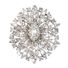 Idea Regalo - Ovale In Cristallo Strass Spilla Fiore Sposa Gioielli Matrimonio